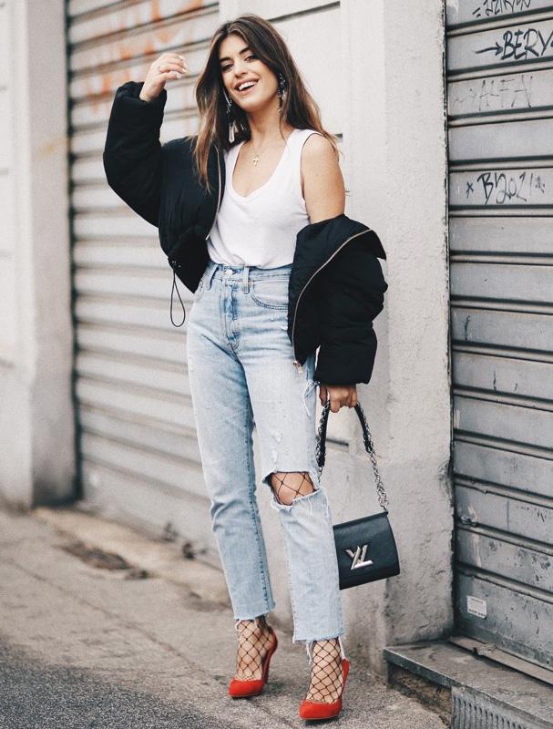 Bloggera usando rejillas