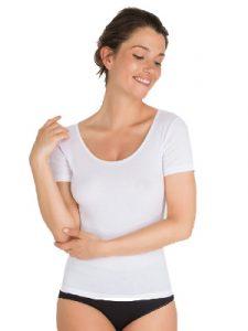 ropa interior térmica: camiseta manga corta mujer