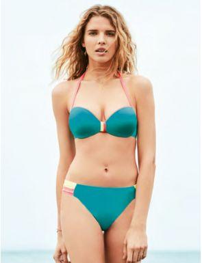 Bikini con foam de doble posición braga alta Gisela