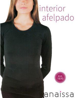 Camiseta mujer termal con felpa interior y manga larga