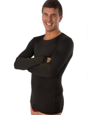 Camiseta hombre termal con felpa interior y manga larga
