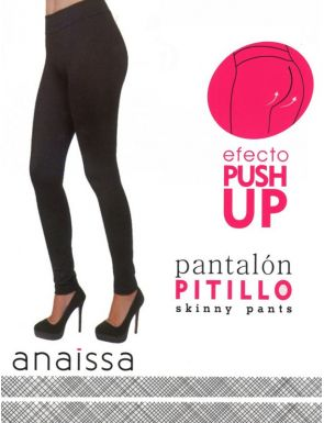 Pantalones pitillo leggings moldeador efecto push up