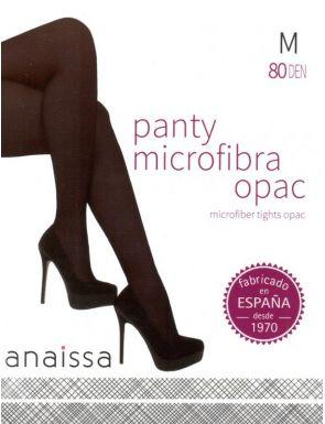 Medias Panty microfibra opaco con rombo 80D
