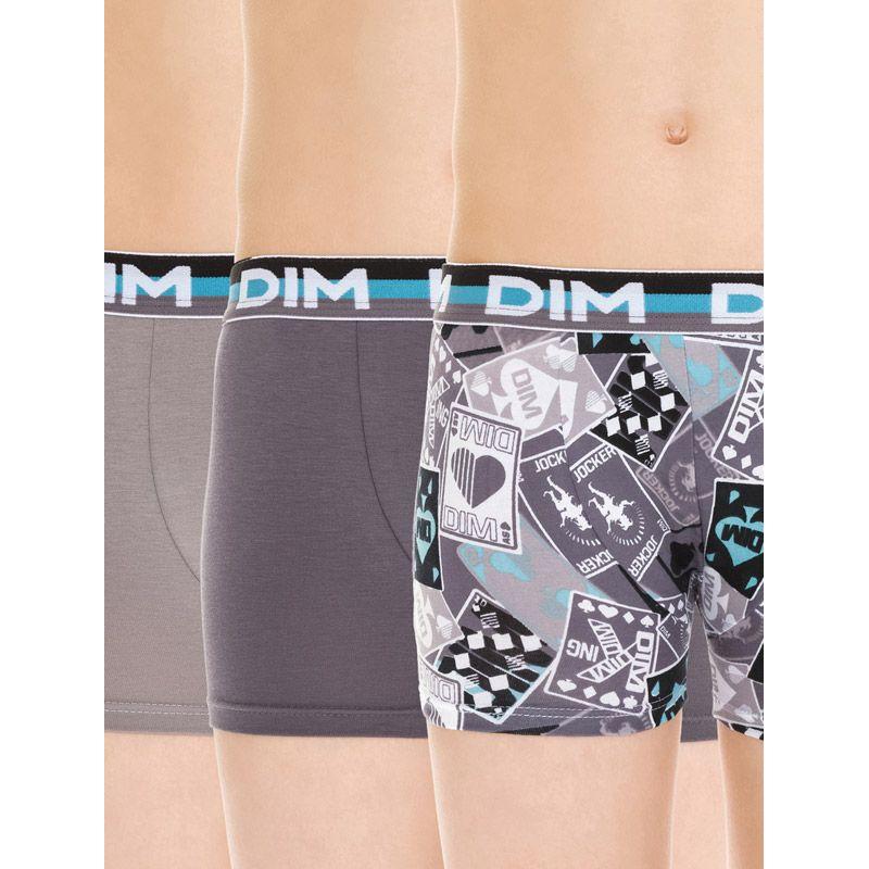 4b57dea779c7 Pack de 3 boxers para niño de DIM grises   Calzoncillos para niño aquí