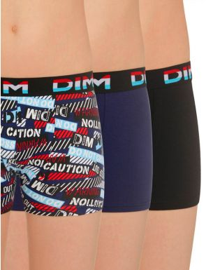 Pack 2+1 Boxers niño Caution DIM