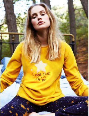 Pijama afelpado mujer Estrellas