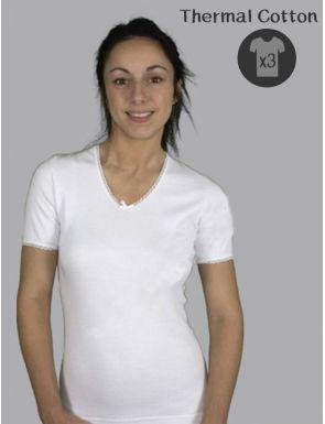 Pack de 3 Camisetas manga corta Thermal de mujer