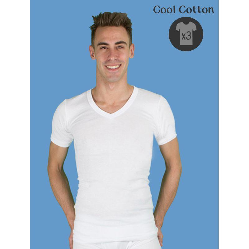 Pack x3 camisetas hombre de algod n de verano ropa for Camisetas de interior hombre