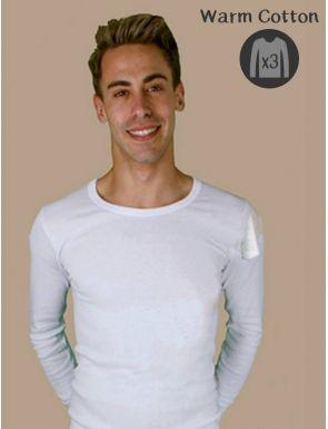 Pack de 3 Camisetas de hombre Algodón de invierno