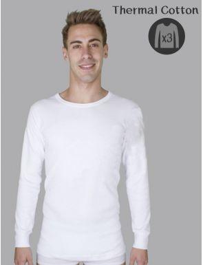 Pack de 3 Camisetas manga larga Thermal de hombre