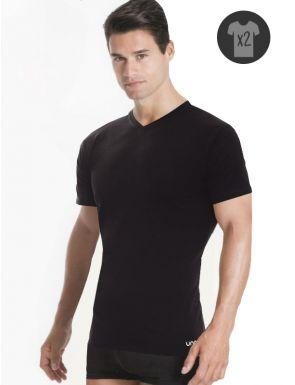 Pack x2 camisetas m/c cuello pico Unno
