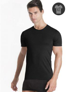 pack de 2 camisetas cuello redondo manga corta Unno