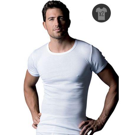 Lote de 2 camisetas 100% algodón Abanderado.