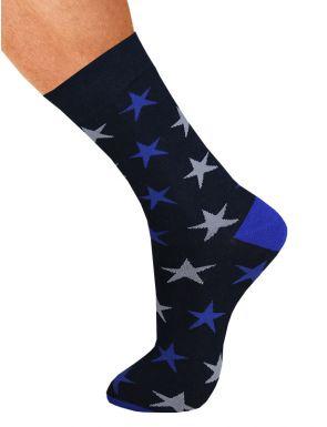 Calcetines hombre algodón estrellas