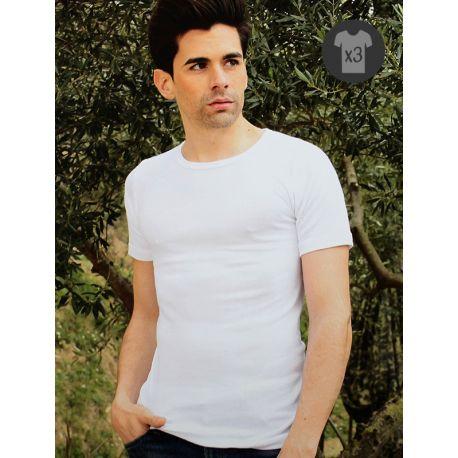 Pack x3 Camisetas Hombre M/C Afelpadas
