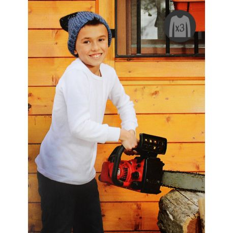 Pack x3 Camisetas Niño M/L Afelpadas
