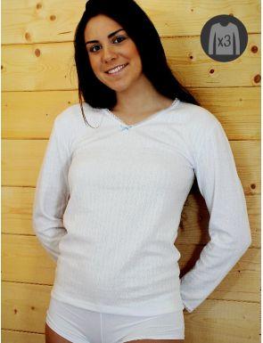 Pack x3 Camisetas Mujer M/L Cálidas