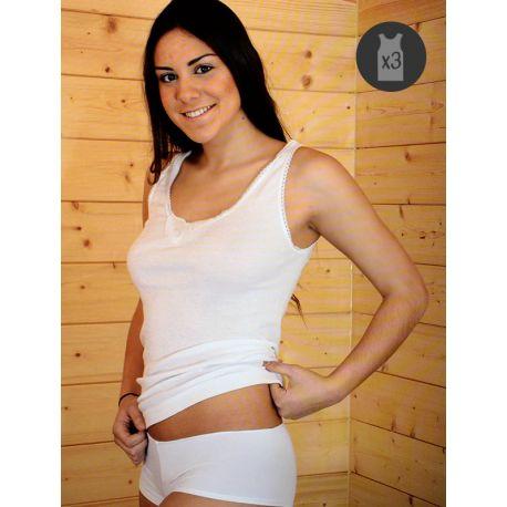 Pack x3 Camisetas Mujer Tirante ancho