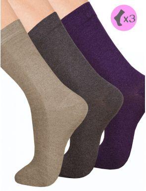 Calcetines mujer algodón cálido x3