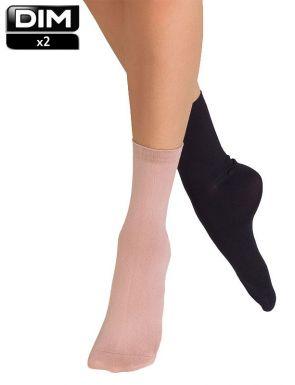 Calcetines mujer segunda piel DIM x2
