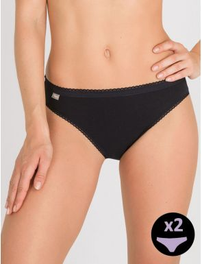 Bragas high leg algodón Playtex x2