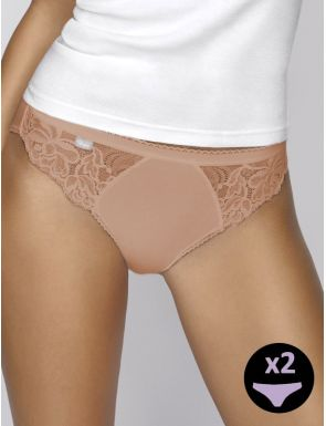 Bragas high leg encaje Playtex x2