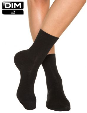 Calcetines mujer de algodón DIM x2