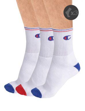 Calcetines blancos Champion x3