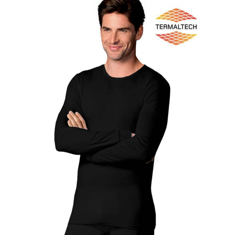 Camiseta térmica con fibra ligera Termaltech genera y retiene el calor 8c041ccb8e05a