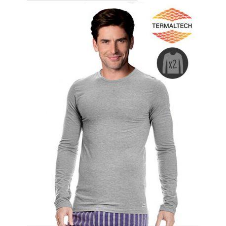 Pack de 2 Camisetas gris M/L Térmica Abanderado