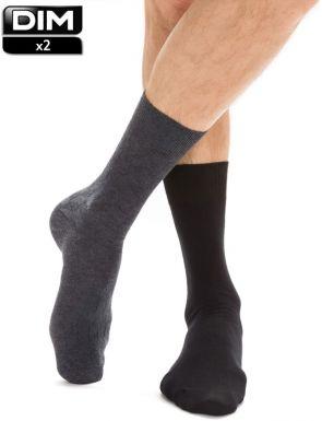 Calcetines de canalé algodón DIM x2