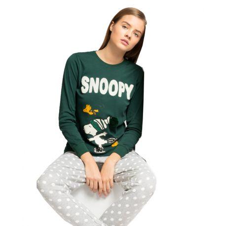Pijama largo para mujer de Snoopy