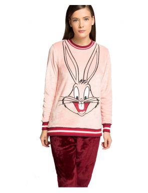 Pijama largo peluche Bugs Bunny Gisela