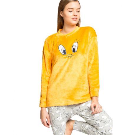 Pijama largo peluche Piolín de Gisela