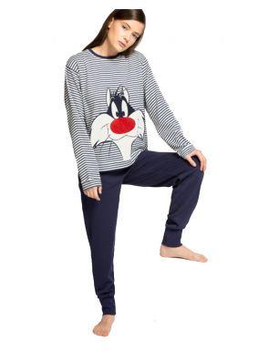 Pijama largo rayas Sylvester de Gisela
