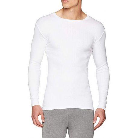 Camiseta Térmica De Algodón Cuello Redondo Hombre