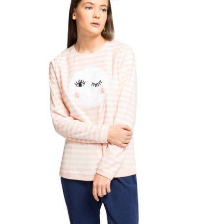 Pijama largo micropolar luna