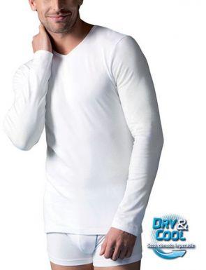 Camiseta manga larga cuello V