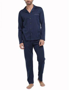 Pijama Hilo de Escocia Azul Marino