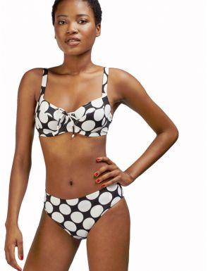 Bikini Gisela estampado de lunares con aro y sin foam