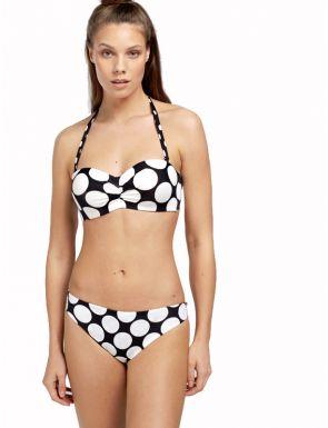 Bikini bandeau estampado Gisela
