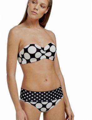 Bikini bandeau estampado Multiposición  Gisela