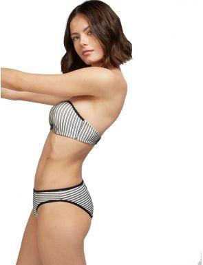 Top bikini bandeau rayas de Gisela