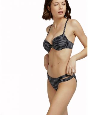 Bikini en tejido Jacquard geométrico