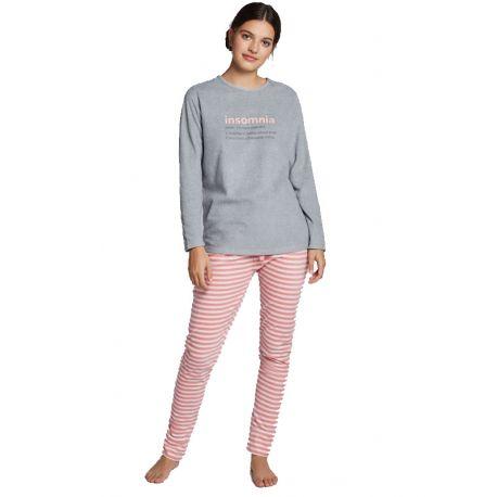 Pijama largo polar de mujer