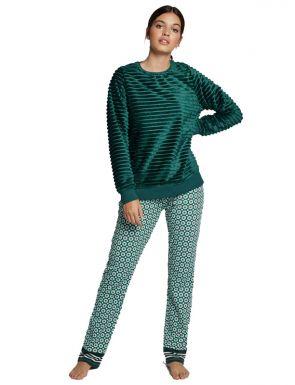 Pijama largo de peluche Gisela