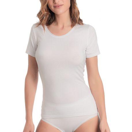 Camiseta interior térmica manga corta algodón