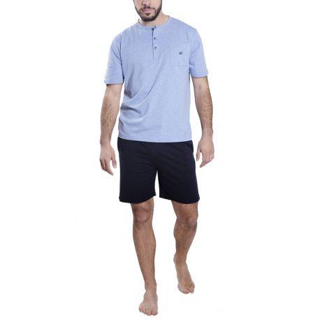 Pijama Corto en Azul