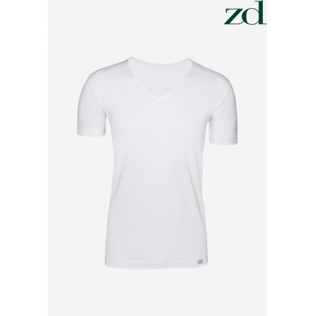 "Camiseta M/C de Algodón egipcio ZD ""V"""