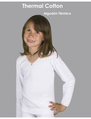 Pack de 3 Camisetas niña Thermal coton manga larga